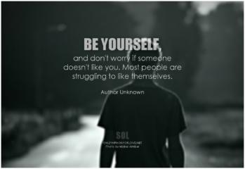 Akzeptiere dich so, wie du bist
