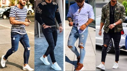 Einfache versus gemusterte Kleidungsstücke