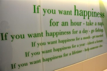 Man kann das Glück nicht materiell kaufen
