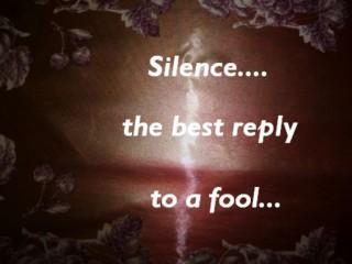Auch das Schweigen ist eine Antwort