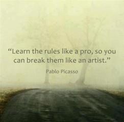 Lerne erst die Regeln des Spiels welches zu spielen musst, damit du anschliessend weisst, wie du sie brechen kannst